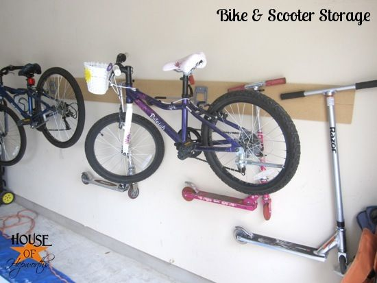 I Like These Brackets For Garage Scooter Storage