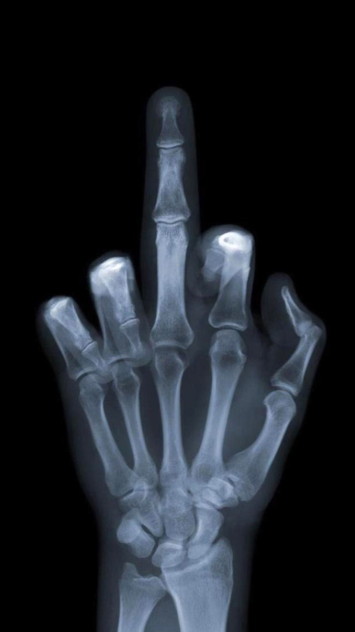 Middle Finger X Ray Wallpaper