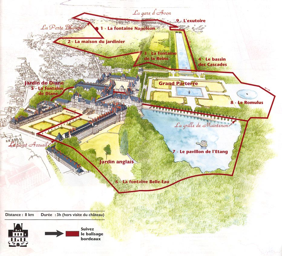 Map of Fontainebleau Cultivate Pinterest