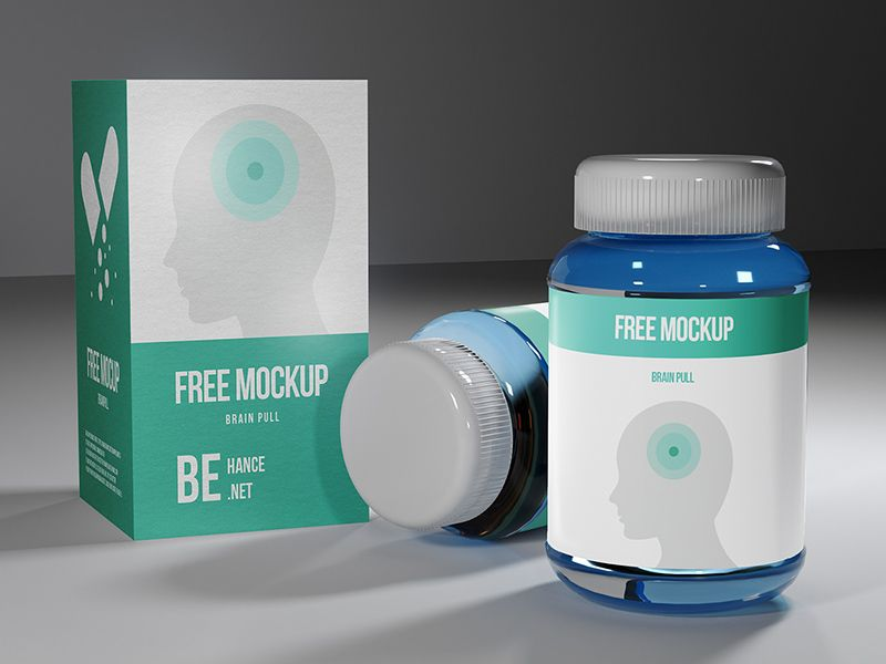 Download Medicine Pills Bottle And Package Box Mockup Psd Bottle Mockup Bottle Packaging Pill Bottles