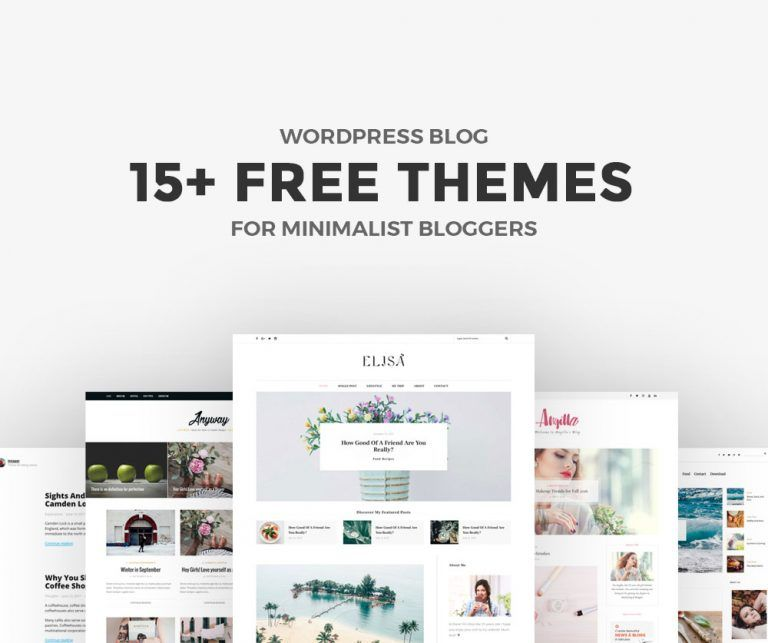 15+ Free Minimalist WordPress Themes and Templates for Blogs of 2020