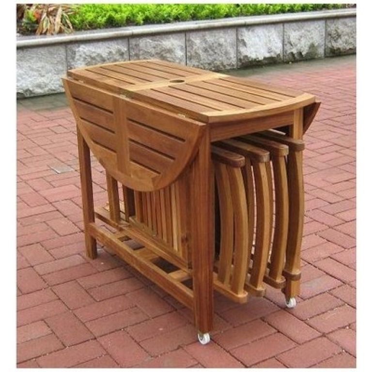 Furniture: Brilliant Folding Dining Table And Chairs Black ...