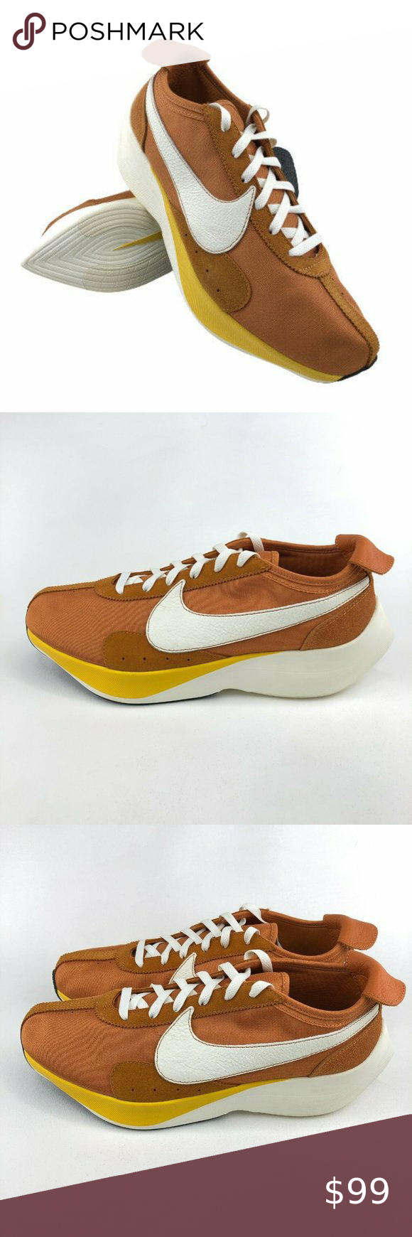 Nike Moon Racer Qs Running Shoes Mens 13 Nike Moon Racer Qs Running Shoes Mpn Bv779 800 Color Monarch Sail Amarillo Loosely Moon Shoes Shoes Mens Suede Heels
