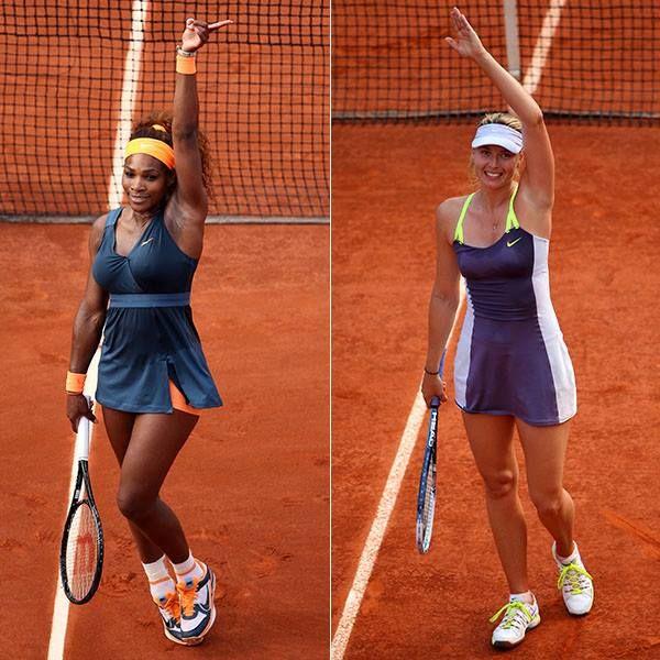 Serena Williams and Maria Sharapova are through to the women's final at ROLAND-GARROS.