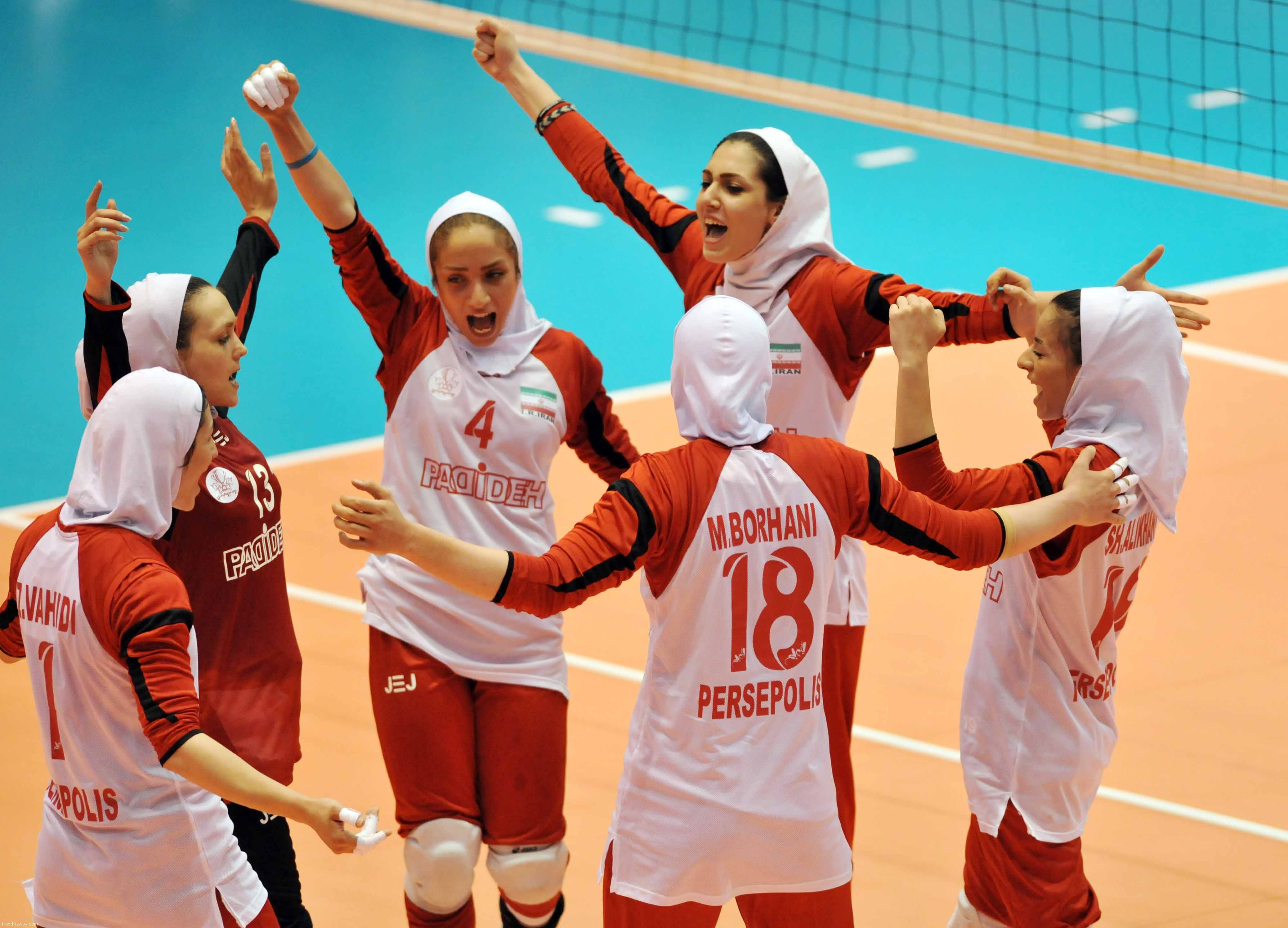 Persian Fasion Iranian Woman Iran S Representatives Have Made A Winning Start To Their Campaign At The 2016 Asian W Iranian Girl Iranian Women Women Volleyball