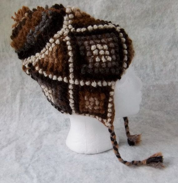 29dce661628 Earflap Peruvian Hat Chullo High Relief by Parakas on Etsy