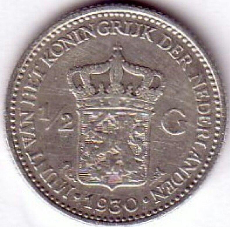 Halve gulden uit 1930