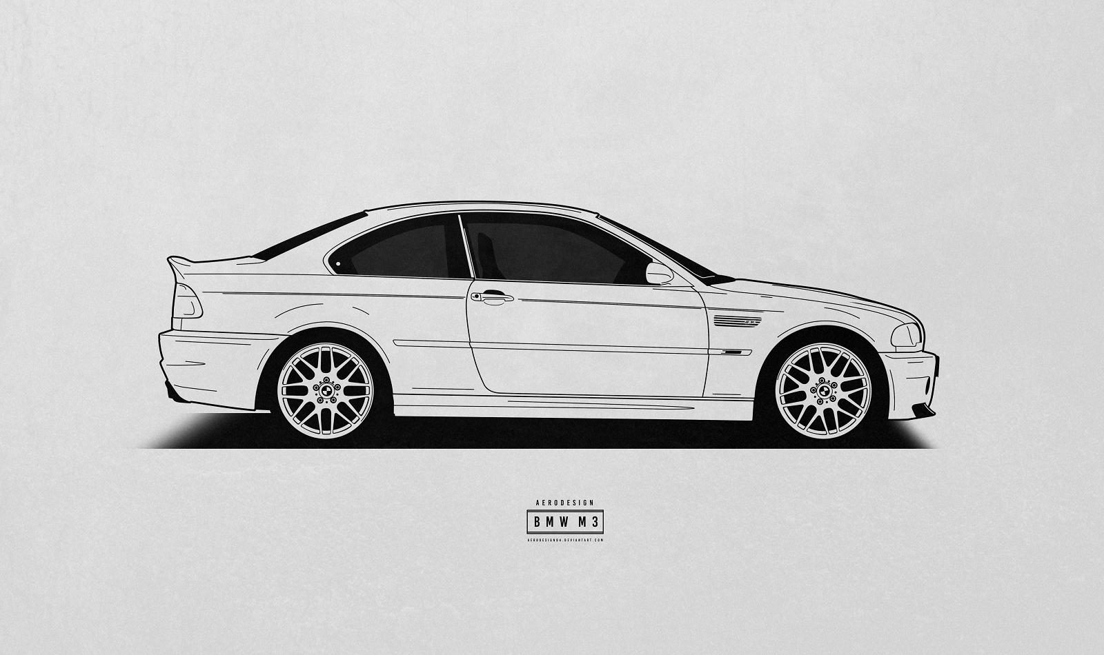 рисунок автомобиля сбоку бог