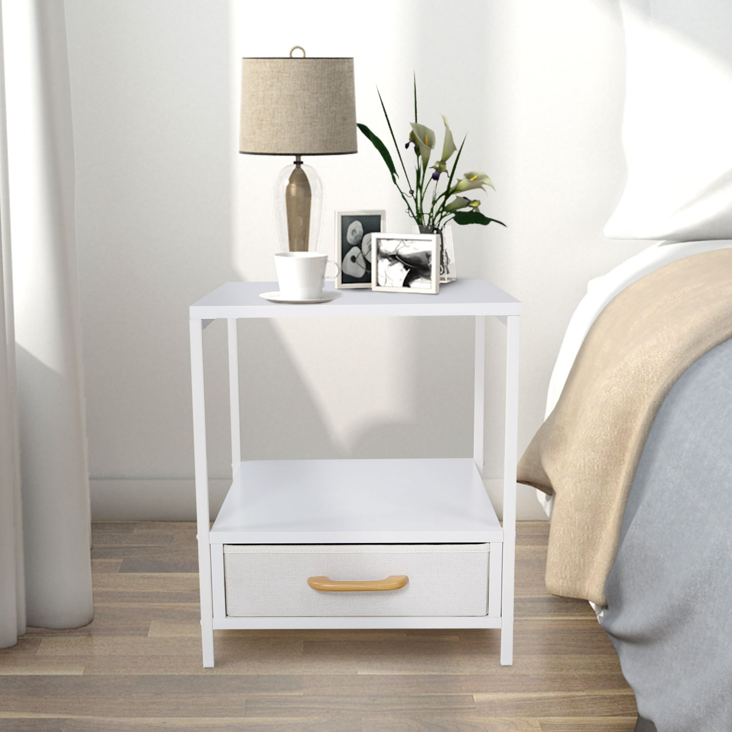 Lifewit Square Side Nightstand Elegant End Table Coffee Sofa Table ...