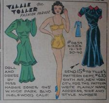 Tillie the Toiler with Uncut Paper Doll from 10/10/1937 Full Size Page!