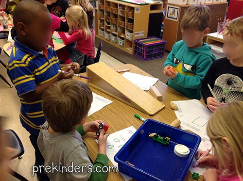 Exploring science in pre k with ramps transportation theme for Small room youth group games