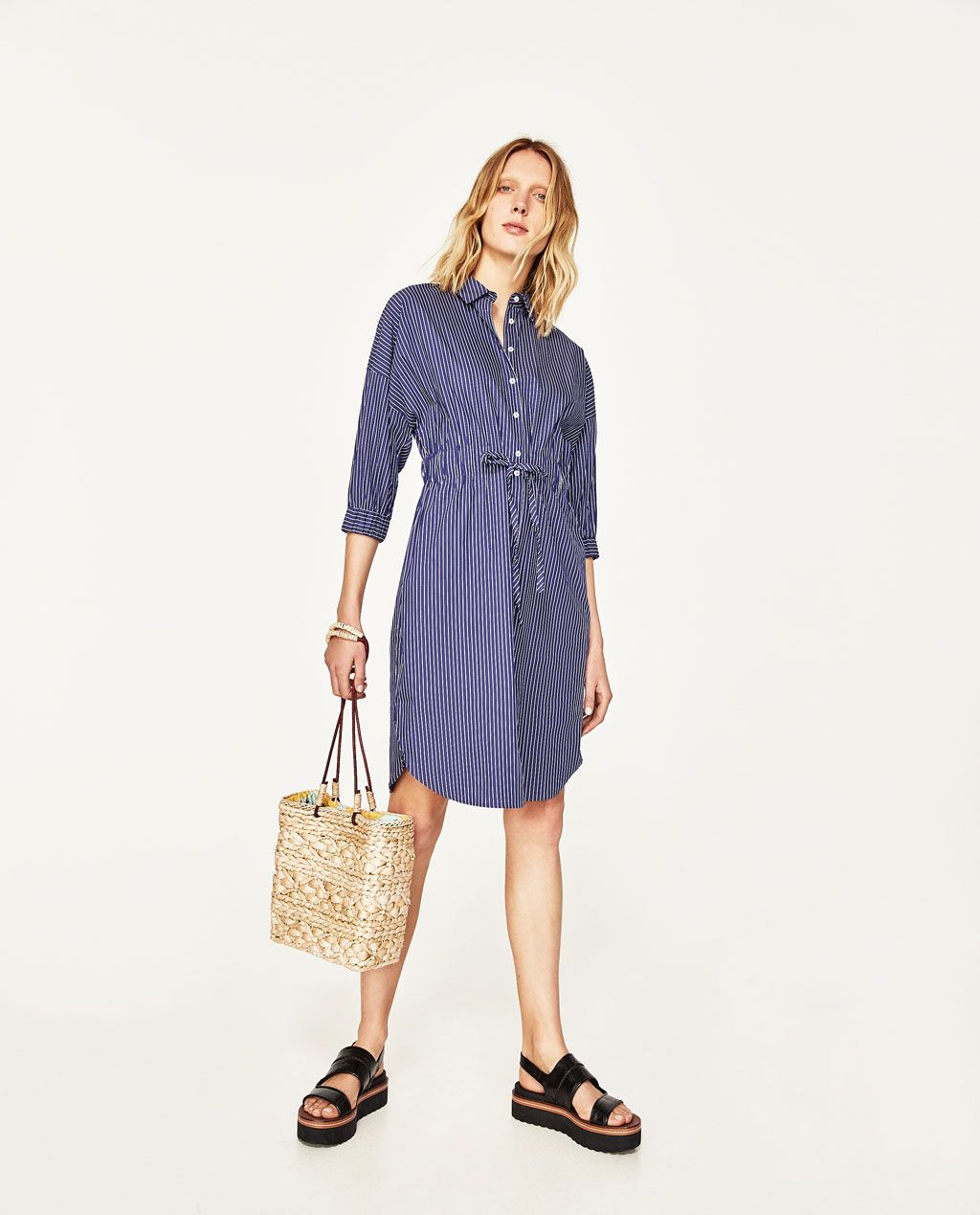 02cd56411b Image 1 of STRIPED SHIRT-STYLE TUNIC from Zara   S/S 18 SECOND WINDS ...