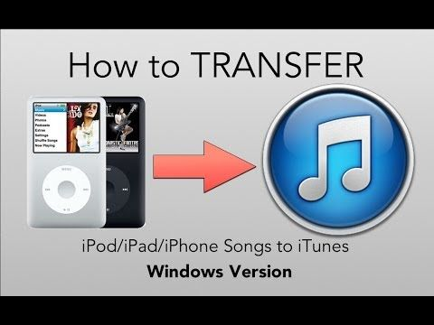 How To Transfer From Ipod To Itunes Windows Itunes Ipod How To Get Music