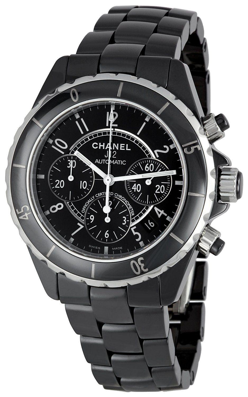 Chanel Men's H0940 J12 Sport Black Dial Watch, (watches, gmt, dress watches, emporio armani)