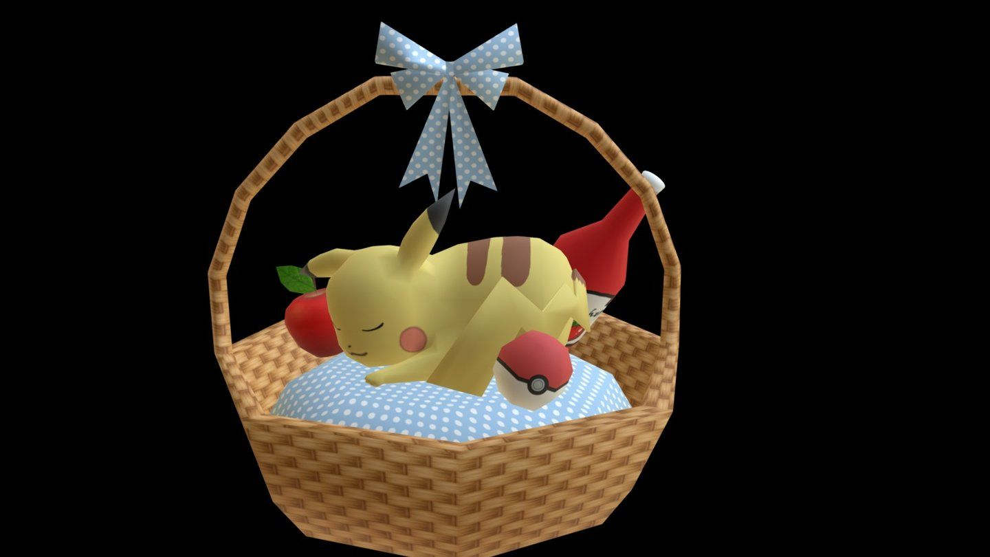 Sleeping Pikachu model by anteja