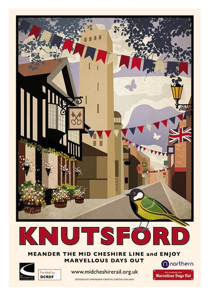 Vintage Style UK Travel Poster 1930s Cornwall England 16x24