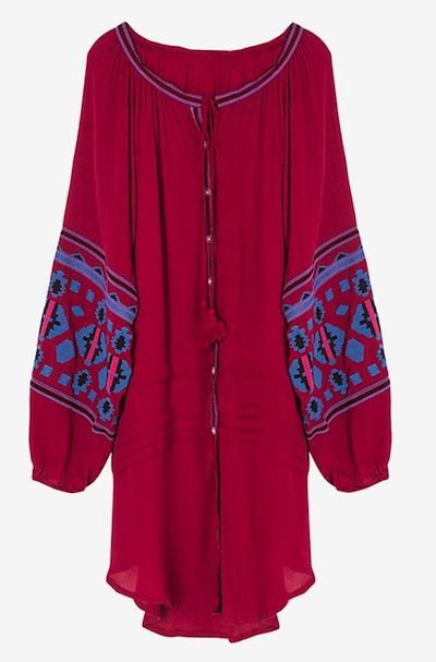 Button Front Embroidered Mini Dress, Genuine People $80 genuine-people.com