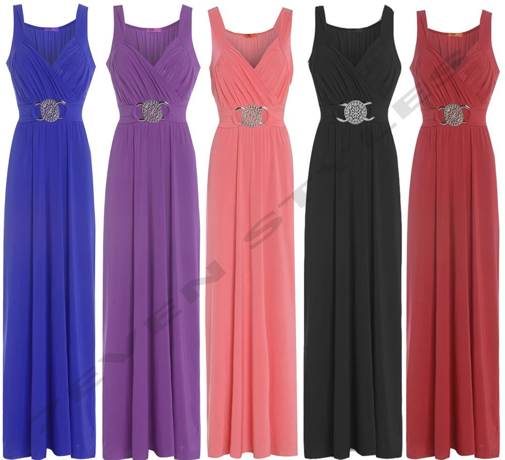 Wedding bridesmaid formal gown party cocktail evening prom buckle ...