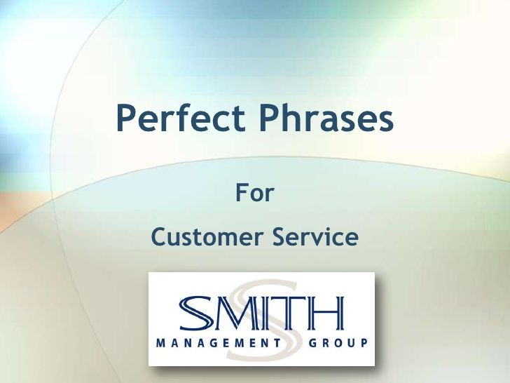 Perfect phrases for customer service angry customers by