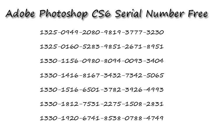 photoshop cs6 serial key generator