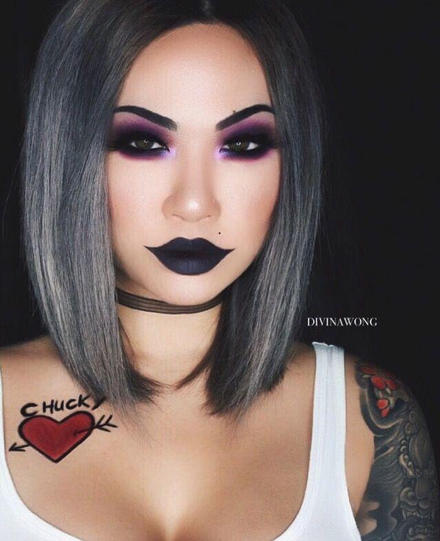 Tiffany Instagram Divinawong Makeupart Glam Halloweenmakeup Halloween Makeup Makeuplook Makeupof Dark Makeup Looks Halloween Makeup Looks Rave Makeup