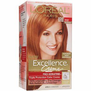 L'oreal Excellence 8Rb Reddish Blonde L'Oreal Excellence 8RB Reddish Blonde Red Things l'oreal highlight color red