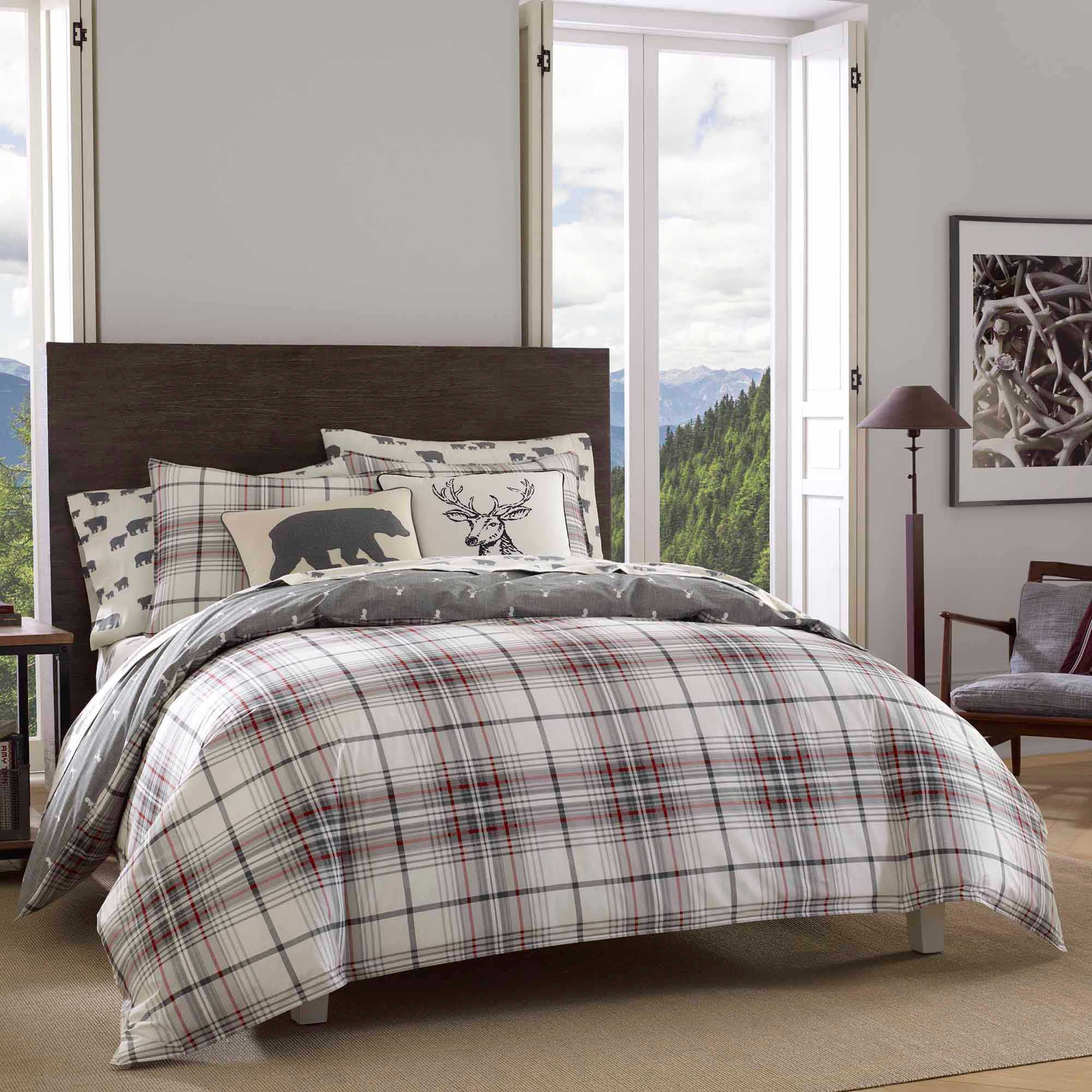Eddie Bauer® Alder Plaid Reversible Comforter Set Plaid