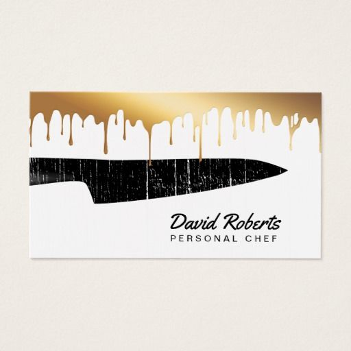 Personal chef catering black knife chic gold drips business card personal chef catering black knife chic gold drips business card colourmoves