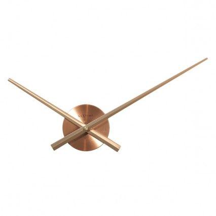 Nextime Small Hands Clock - Copper - minimalist wall clock