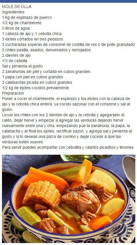 Mole de Olla, comida tradicional michoacana