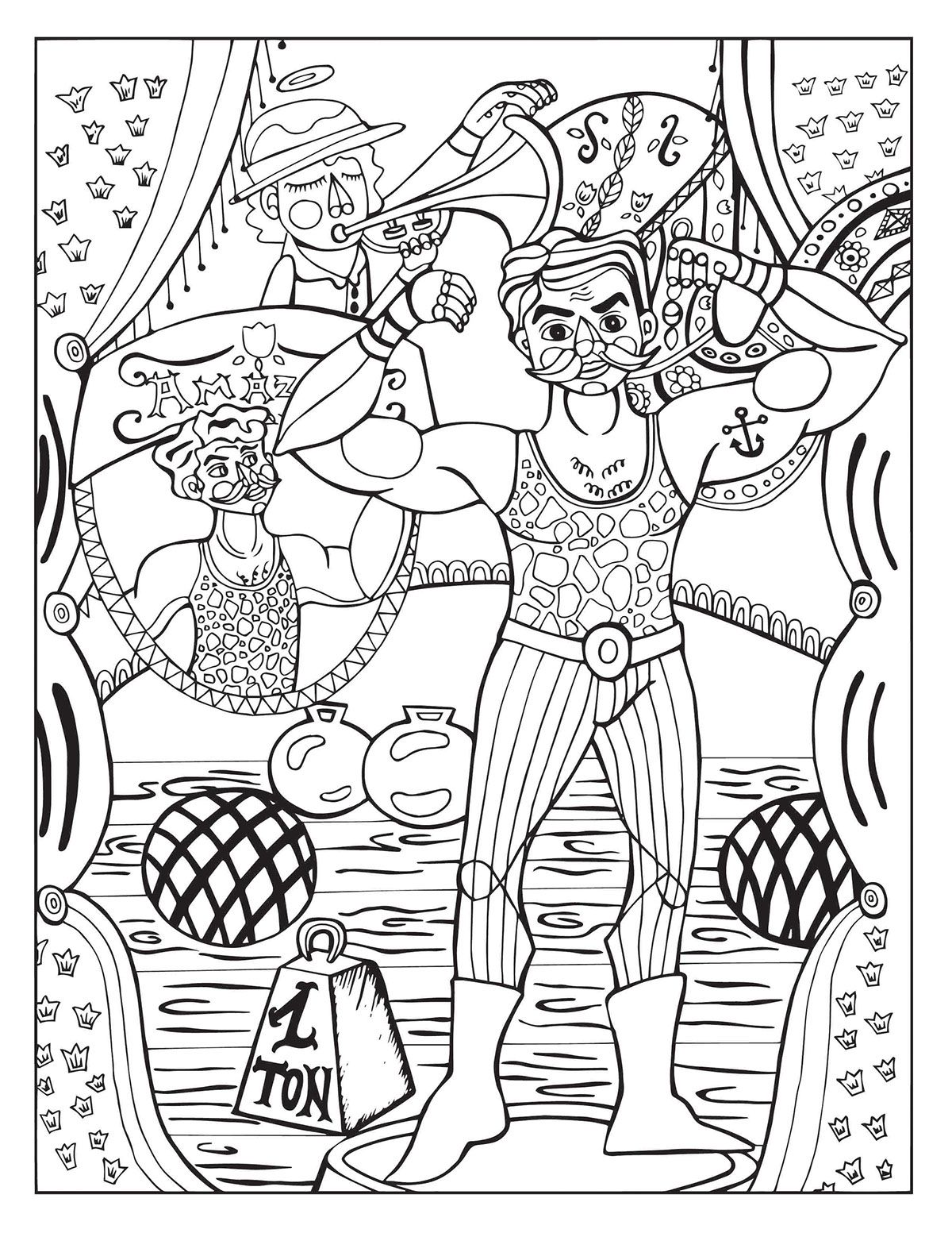 Coloriage Cirque Cp.Coloriage Coloriage Cirque Coloring Pages Coloring Book