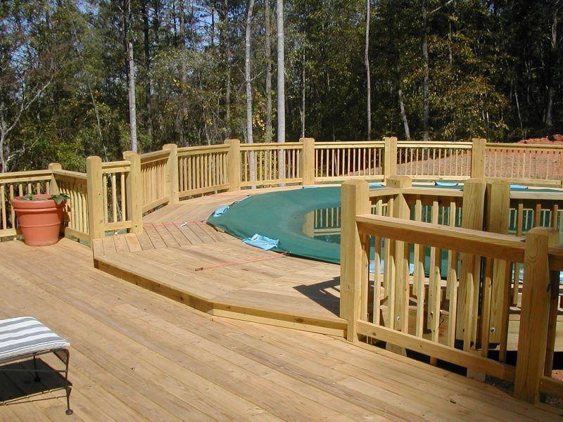Above Ground Pools Decks Idea Deck Plans For Above Ground Pools