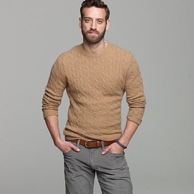 Camel Cable ... I've always wanted a cable-knit sweater, but never ...