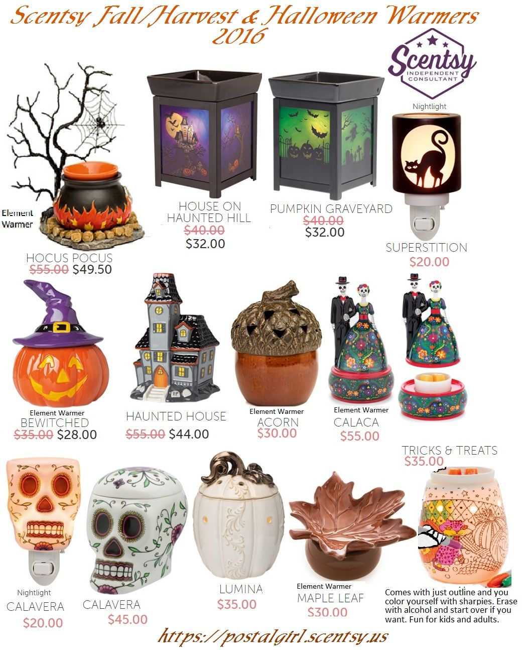Scentsy Harvest 2016 Fall and Halloween Warmers and