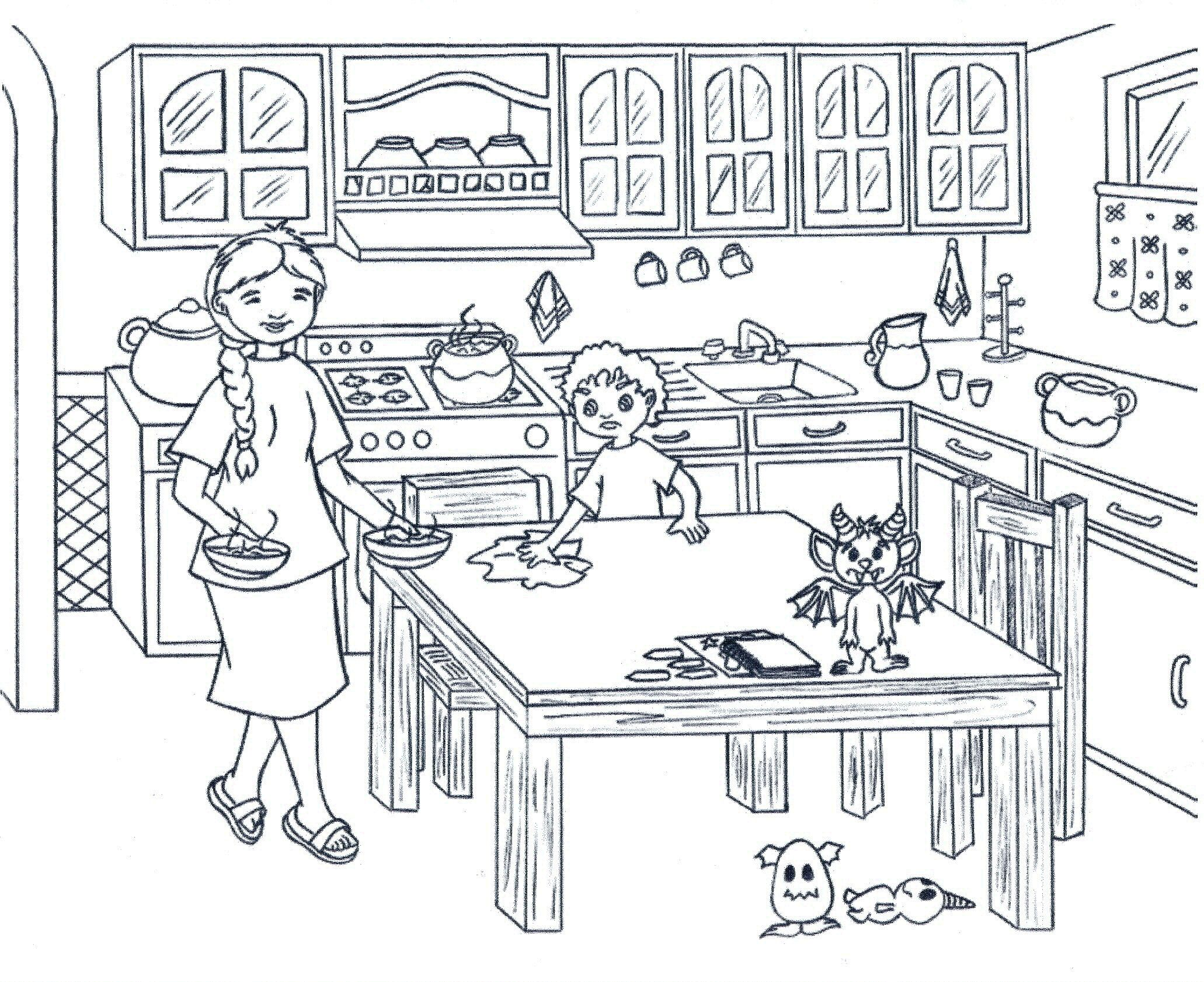 Coloring Pages Kitchen 03 Coloring Pages Colouring Pages Coloring For Kids