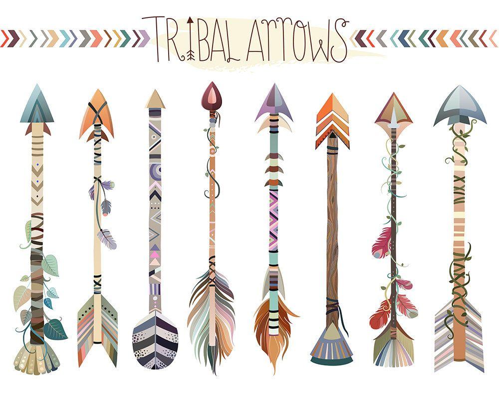 Tribal Arrows Clipart Set Of Vector Png Jpg Files Hand Etsy Arrow Clipart Tribal Arrows Digital Clip Art Set