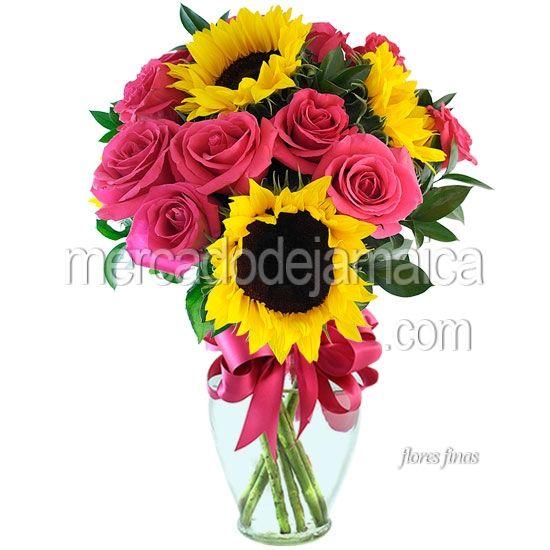 arreglos florales con girasoles y rosas - Google Search Mi