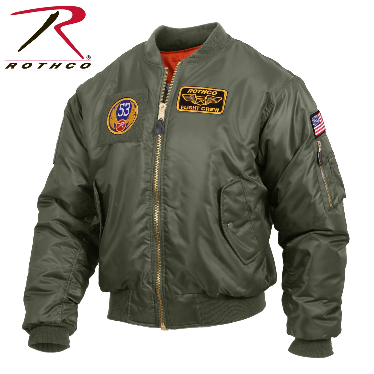 Rothco Ma 1 Flight Jacket With Patches Leather Flight Jacket Jackets Flight Jacket [ 1500 x 1500 Pixel ]