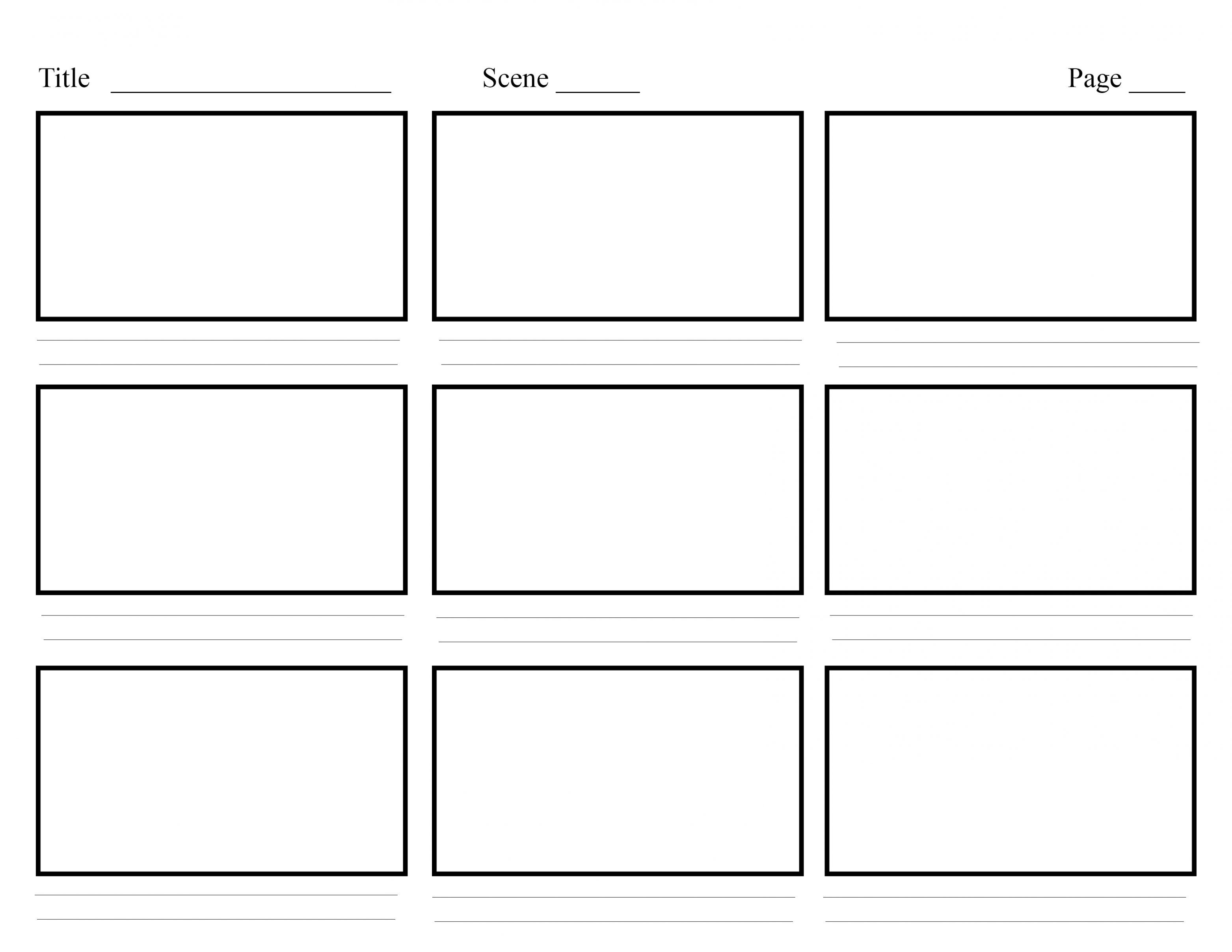 graphic about Printable Storyboard titled Storyboard Template Printable [PDF, Term] Come across all
