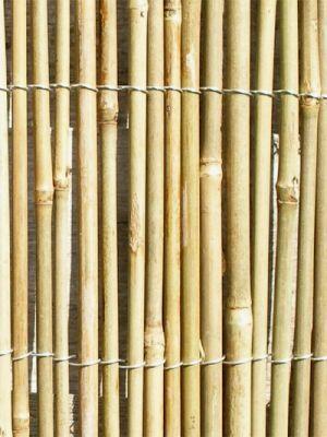 bambusmatte 200cm x 400cm vollrohr natur papillon sichtschutz garten. Black Bedroom Furniture Sets. Home Design Ideas