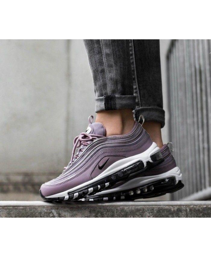 buy popular 798bb dd3ec Nike Air Max 97 Premium Purple Grey Black Trainers Cheap Sale UK