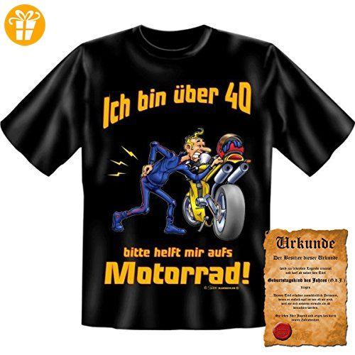 Lustige Sprüche Fun Tshirt Ja, ich bin über 40! - 40. Geburtstag tshirt