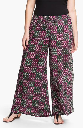 2c370c840a1ab Tolani Silk Palazzo Pants (Plus) (Online Only) available at  Nordstrom