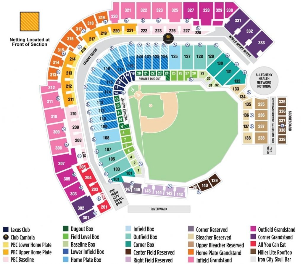 Pnc Park Seating Chart Pnc Park Pnc Pittsburgh Pirates