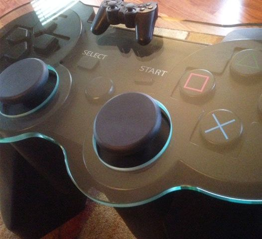 How To Escape The Bathroom Saw Ps3 giant playstation 3 controller coffee table | geeky stuff