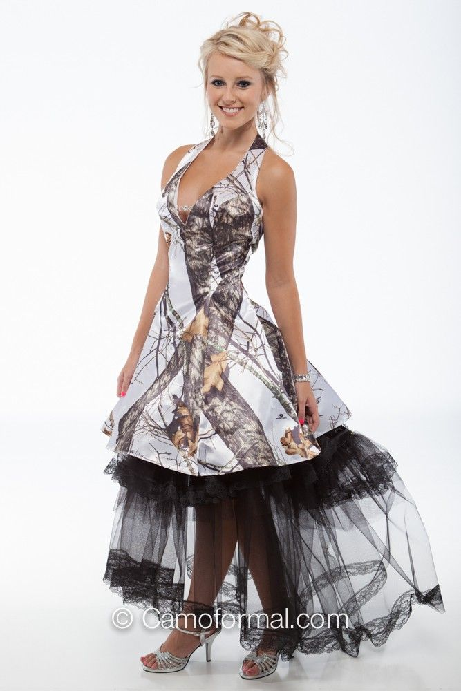 Long and Short Camo Wedding Dresses