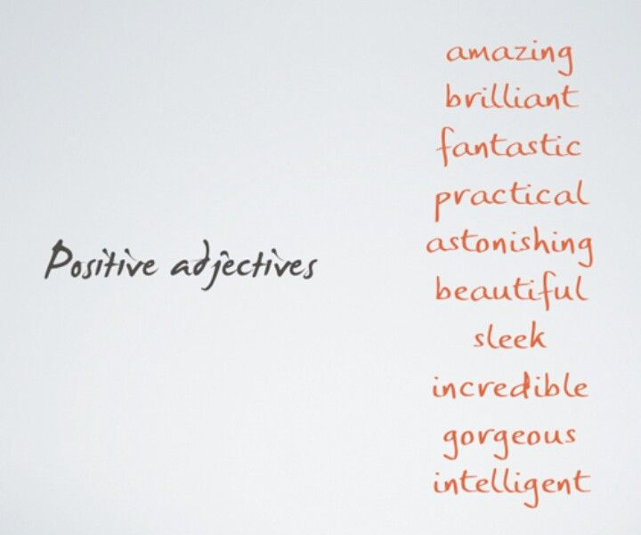 Positive adjectives Healthy Pinterest - good words to describe yourself on a resume