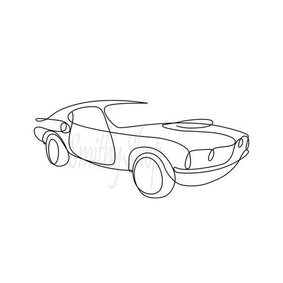 Printable Car Digital Svg Jpeg Ai Png Eps Pdf One Line Drawing Art Minimalist Wall Decor In 2021 Line Art Drawings Line Drawing Art