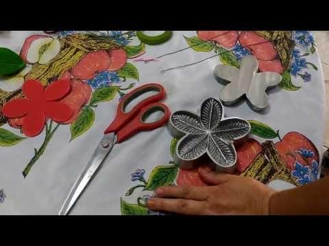 Flor em E.V.A - CALANDRA 5 PONTAS - YouTube