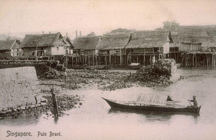 1900s - PULAU BRANI Sampan SINGAPORE -SMHIG   Singapore, the